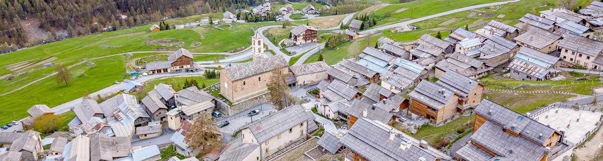 Saint-Véran vu d'en haut